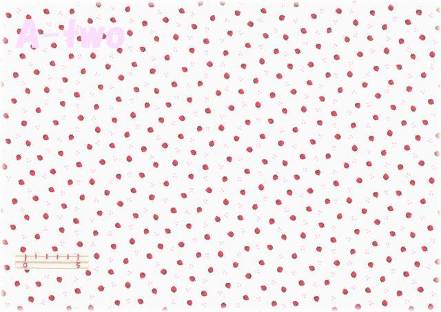 LECIEN Retro 30's Child Smile プチいちご 生成り 31440-10 (約110cm幅×50cm)