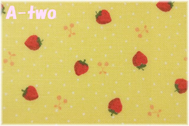 LECIEN Retro 30's Child Smile プチいちご イエロー 31440-50 (約110cm幅×50cm)
