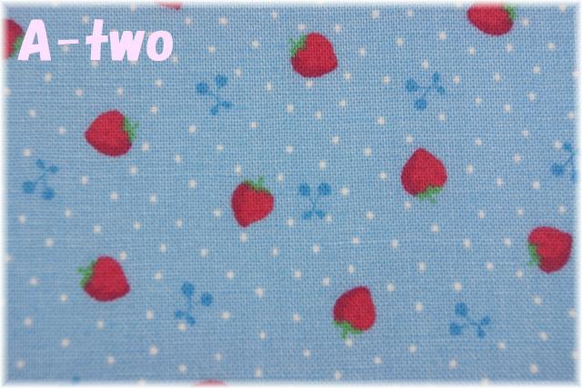 LECIEN Retro 30's Child Smile プチいちご ブルー 31440-70 (約110cm幅×50cm)