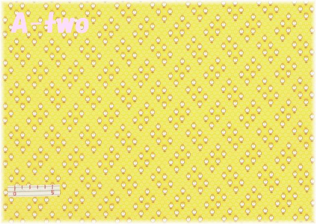 LECIEN Retro 30's Child Smile プチチューリップ イエロー 31441-50 (約110cm幅×50cm)