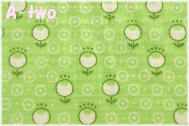 LECIEN Retro 30's Child Smile プチチューリップ グリーン 31441-60 (約110cm幅×50cm)