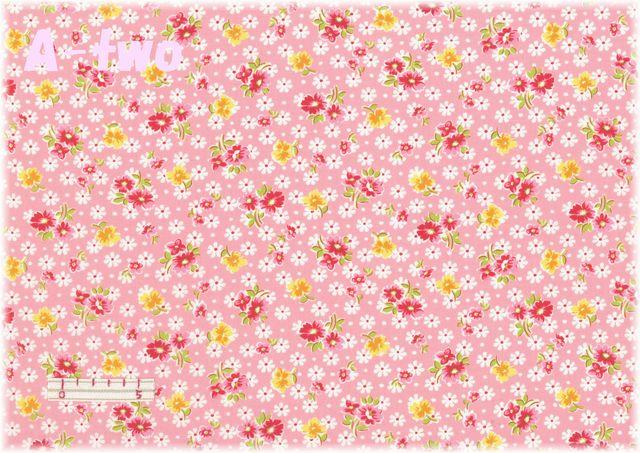 LECIEN 30's 8 アンティークフラワー ピンク 31524-20 (約110cm幅×50cm)