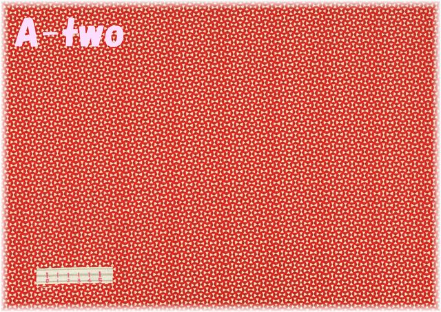 LECIEN Retro 30's Child Smile トライアングル レッド 31798-30 (約110cm幅×50cm)