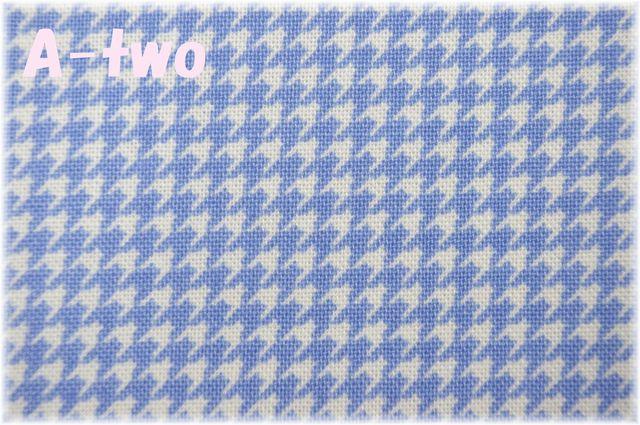 LECIEN Retro 30's Child Smile 千鳥格子 ブルー 31870-70 (約110cm幅×50cm)