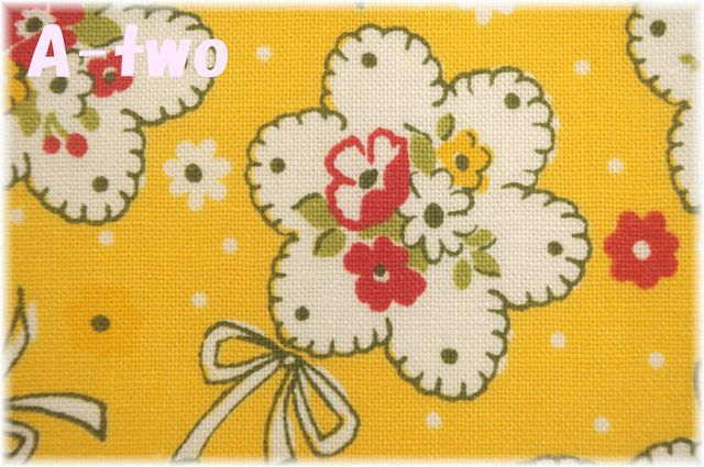 LECIEN Retro 30's Child Smile ブーケ イエロー 35061-50 (約110cm幅×50cm)
