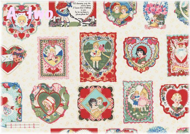 MARCUS Fabrics MOTHER'S VALENTINES (約110cm幅×50cm)