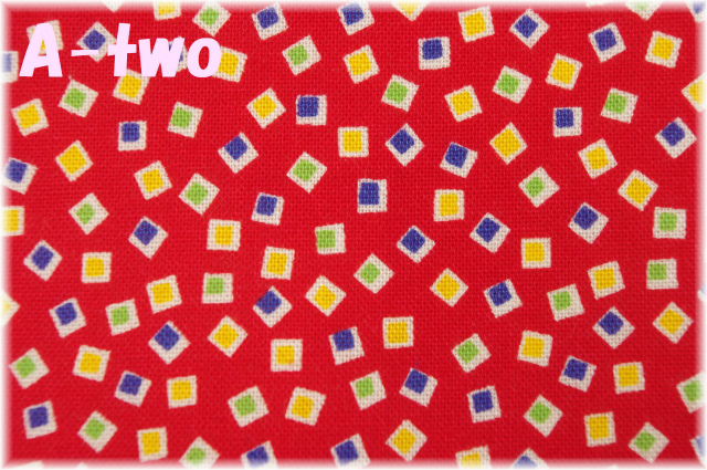 Washington Street Studio HOLLY'S DOLLIES スクエア レッド 00603-R (約110cm幅×50cm)